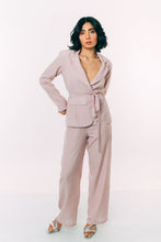 Load image into Gallery viewer, Lilac Check Relaxed Blazer With Pants