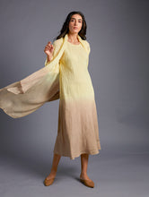 Load image into Gallery viewer, Vai Hand-Dyed Linen Cape Lemon