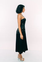 Load image into Gallery viewer, Embroidered Corset Midi Dress