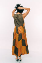 Load image into Gallery viewer, Olive Panelled Trapeze Cut Dress