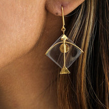 Load image into Gallery viewer, Fighter Kite Large Transparent Earring