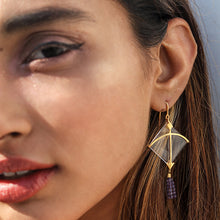 Load image into Gallery viewer, Tassel Long Kite Transparent Earring