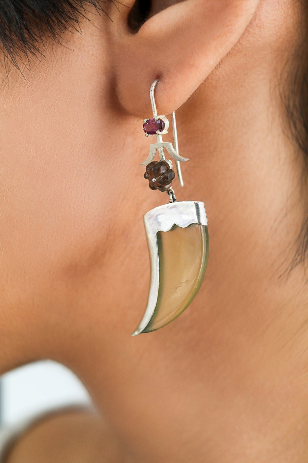 Avani Silver, Brown And Purple Earring