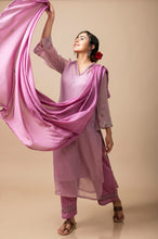 Load image into Gallery viewer, Mauve Kota Cotton Zardozi Kurta