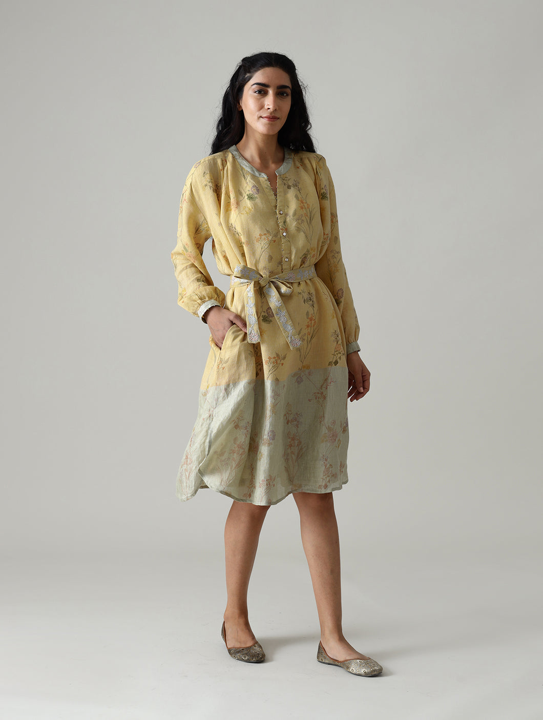 Jaie Shirt Dress With Embroidered Belt- Mango