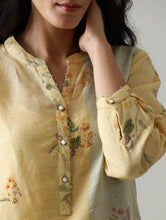 Load image into Gallery viewer, Kaira Embroidered Kurta Set With Salwar And Dupatta- Mango