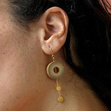 Load image into Gallery viewer, Rhea Low Drops Gold Earring