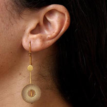 Load image into Gallery viewer, Rhea High Drop Gold Earring