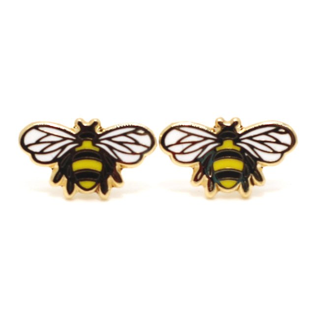 Buzzing Bees 22K Gold Earrings | Dog & Shark | Funny Gift Ideas