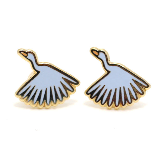 Crane 22K Gold Earrings | Dog & Shark | Funny Gift Ideas