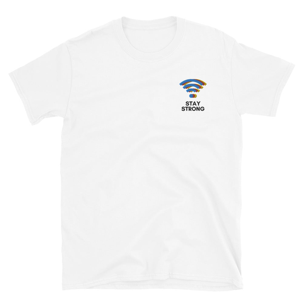 Strong WiFi Embroidered Shirt | Dog & Shark | Funny Gift Ideas