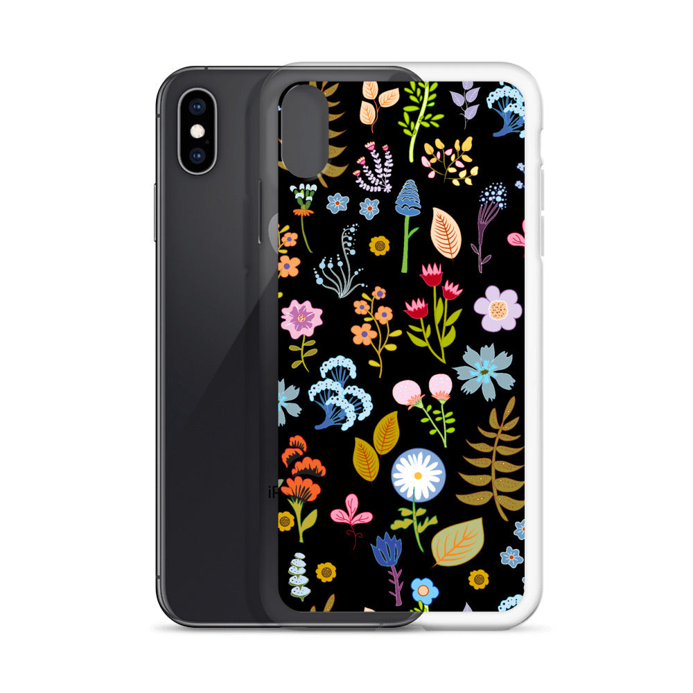 Swedish Floral Print iPhone Case (Generations 6 - 11) | Dog & Shark | Funny Gift Ideas