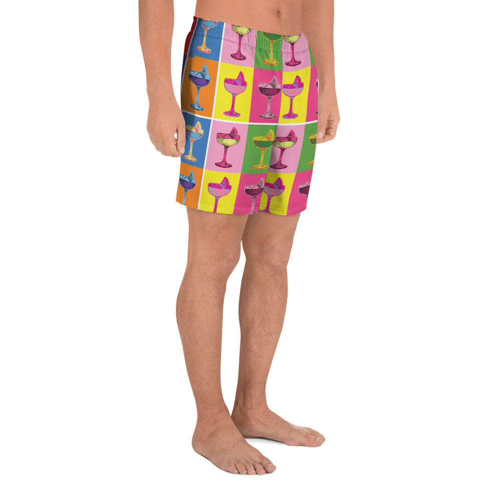 Andy Warhol Athletic Shorts | Dog & Shark | Funny Gift Ideas