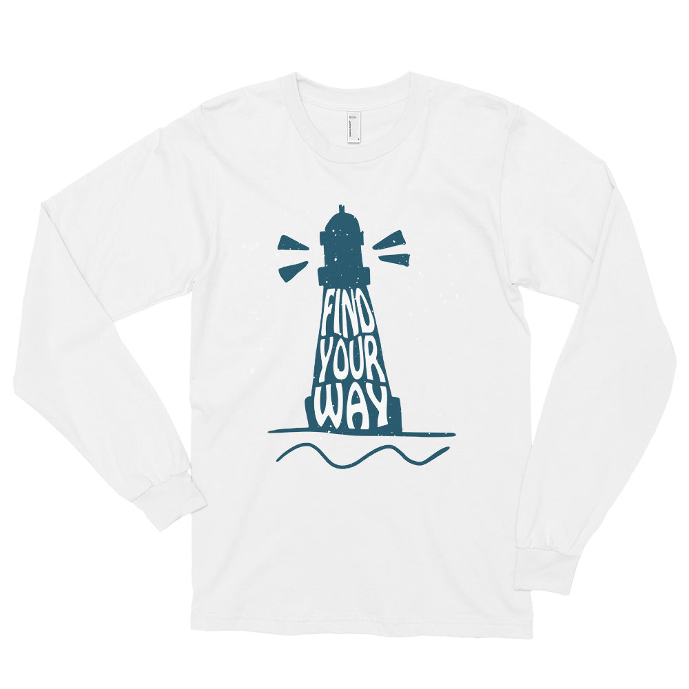Lighthouse Long Sleeve Shirt | Dog & Shark | Funny Gift Ideas