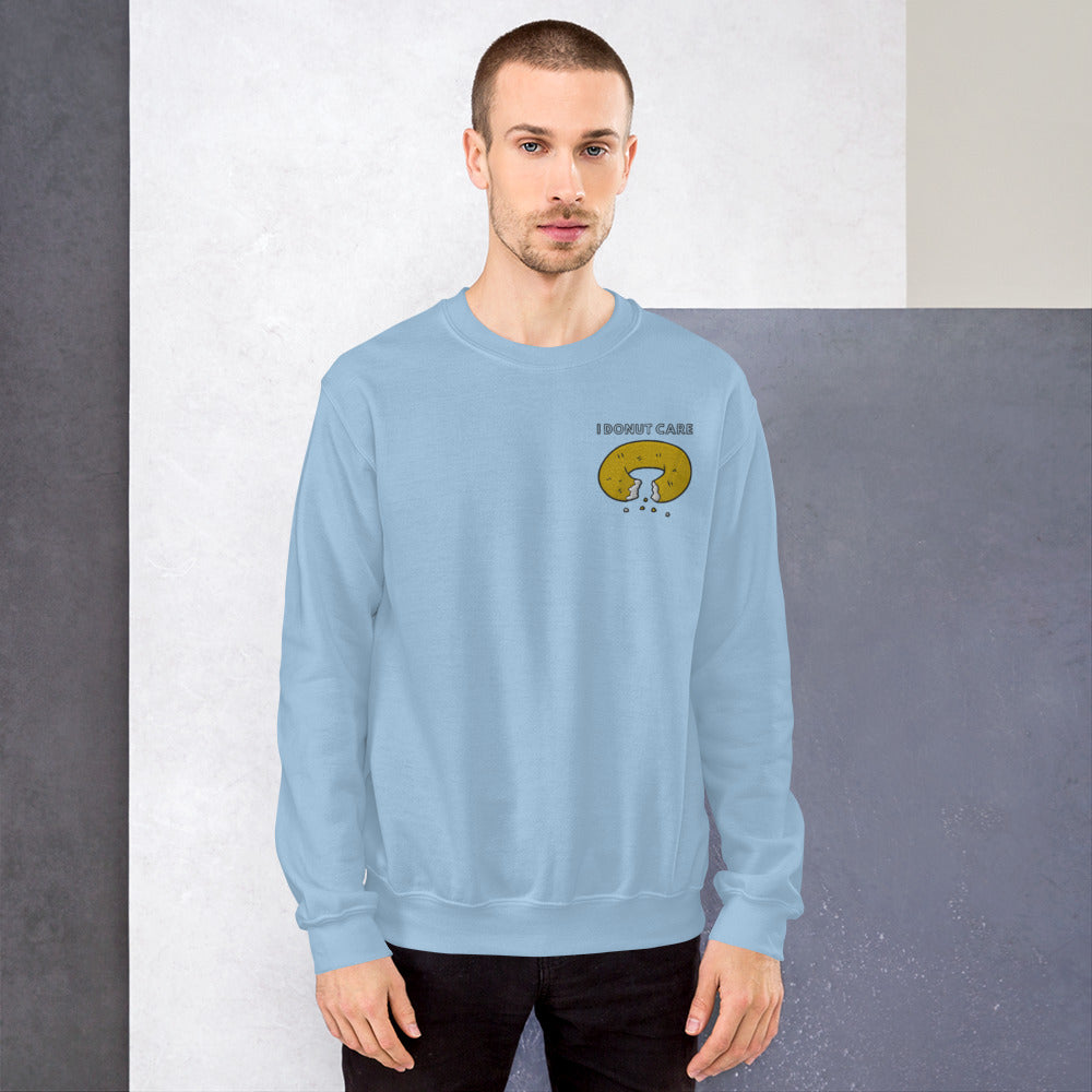 Donut Care Embroidered Sweatshirt | Dog & Shark | Funny Gift Ideas