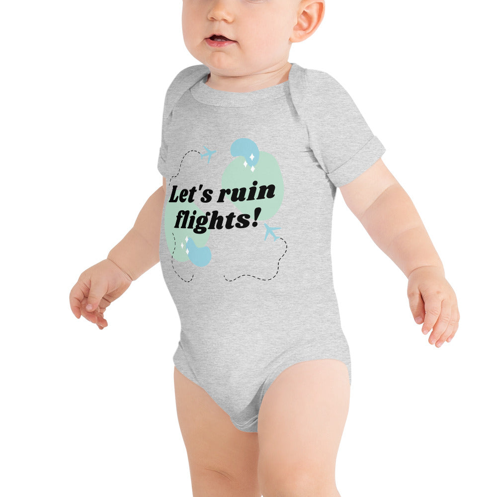 Let's Ruin Flights Baby Onesie | Dog & Shark | Funny Gift Ideas