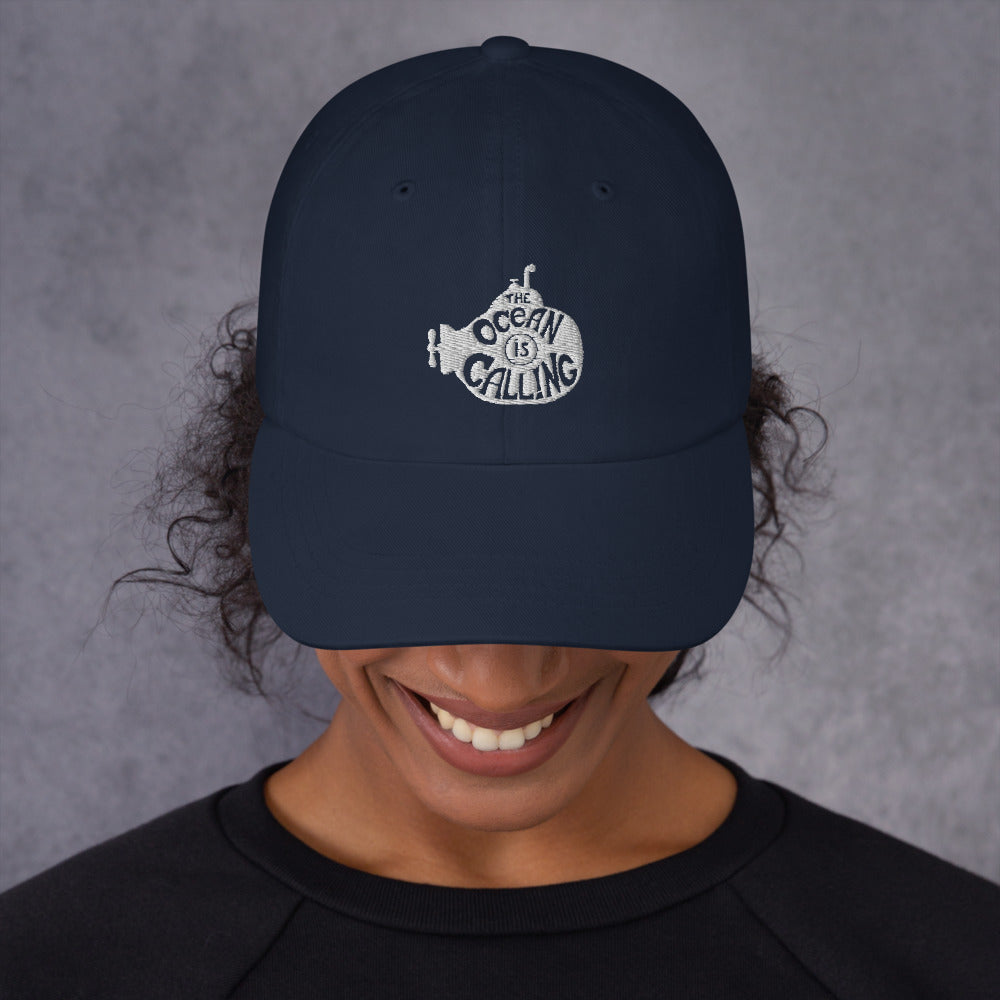 The Ocean is Calling Embroidered Hat | Dog & Shark | Funny Gift Ideas