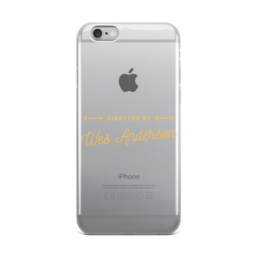 Directed by Wes Anderson iPhone Case (Generations 6 - 11) | Dog & Shark | Funny Gift Ideas