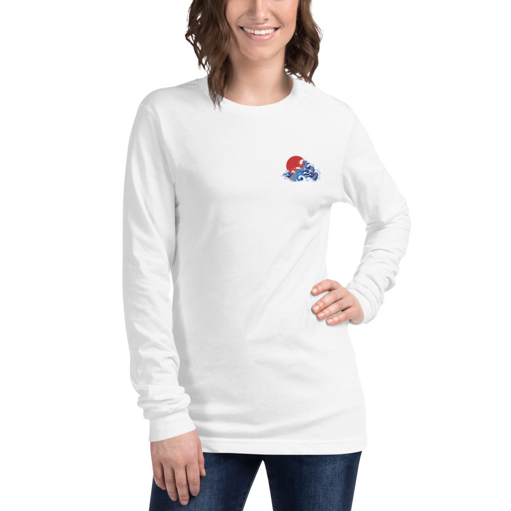 Japanese Wave Long Sleeve Tee | Dog & Shark | Funny Gift Ideas