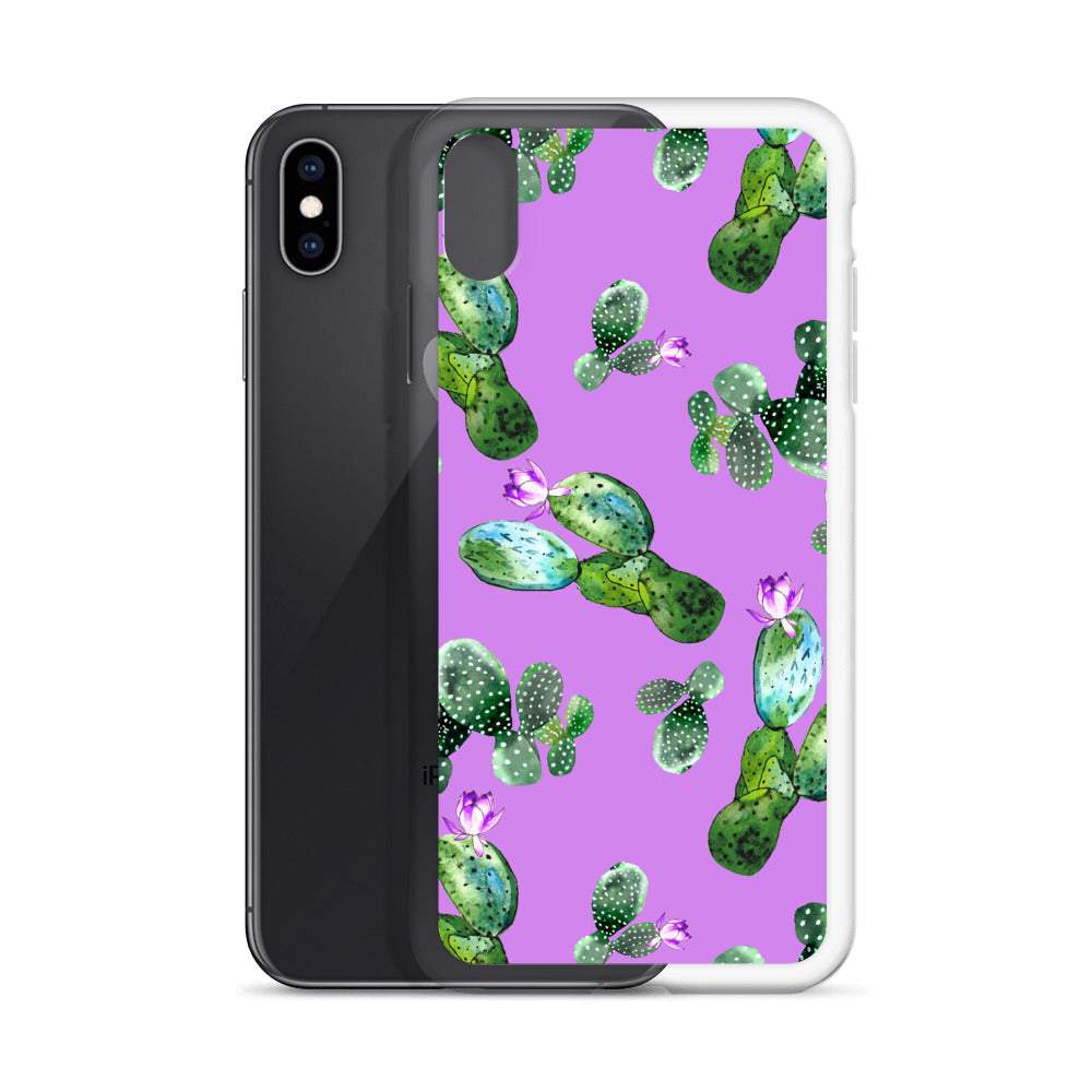 Palm Springs Purple iPhone Case (Generations 6 - 11) | Dog & Shark | Funny Gift Ideas