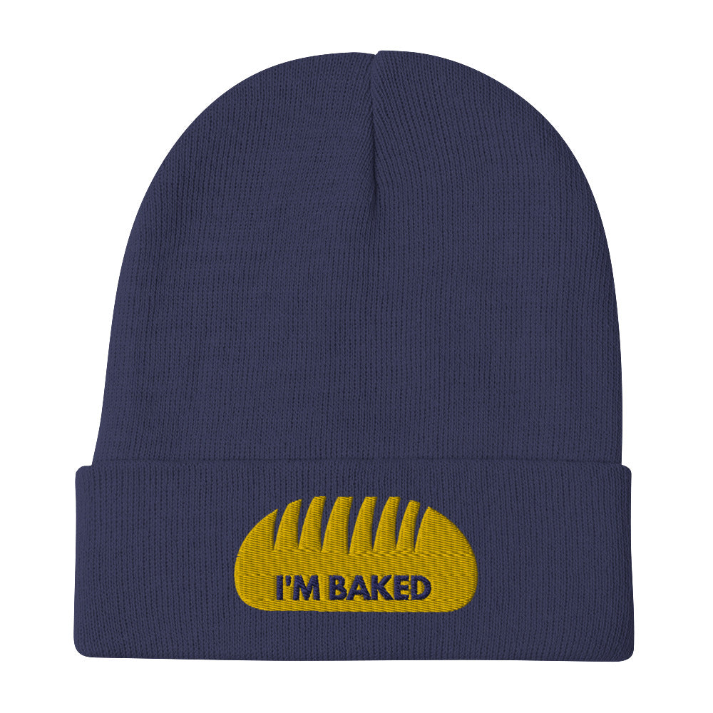 I'm Baked Embroidered Beanie | Dog & Shark | Funny Gift Ideas