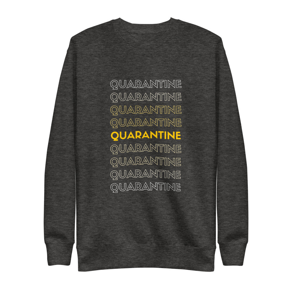 Quarantine Quarantine Quarantine Fleece Pullover | Dog & Shark | Funny Gift Ideas