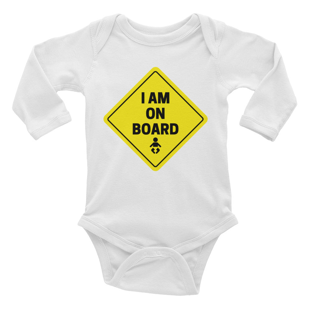 I Am On Board Baby Onesie | Dog & Shark | Funny Gift Ideas