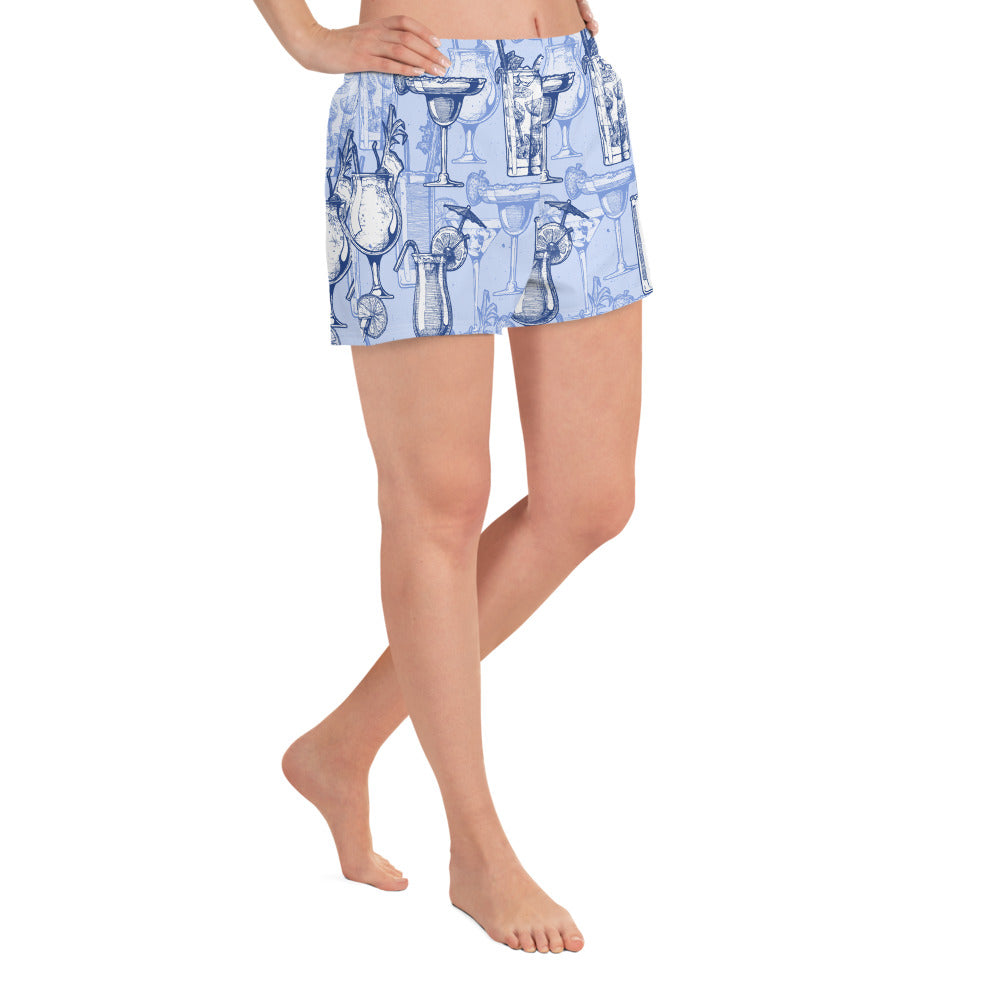 Mai Tai and Mojito Blue Print Short Shorts | Dog & Shark | Funny Gift Ideas