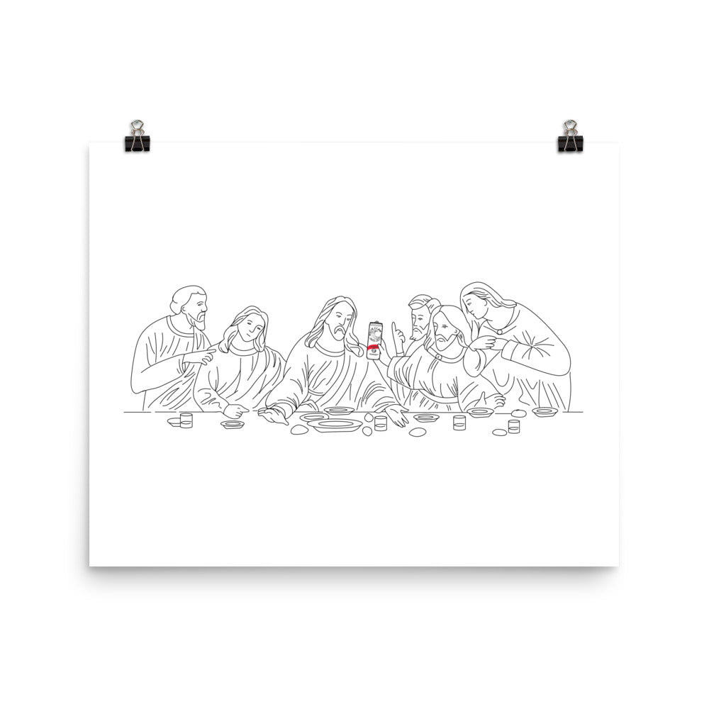 The Last White Claw / Supper Art Print | Dog & Shark | Funny Gift Ideas