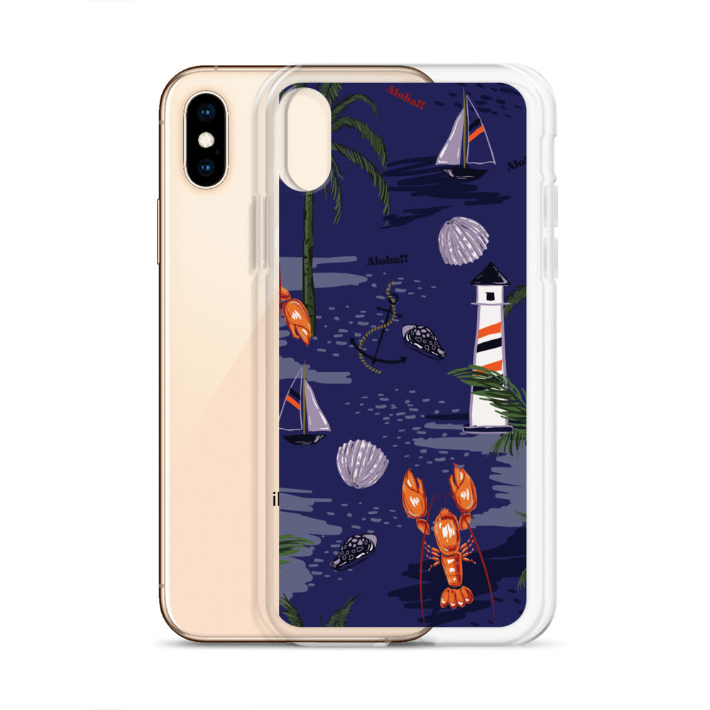 Nautical Lighthouse and Lobster iPhone Case (Generations 6 - 11) | Dog & Shark | Funny Gift Ideas