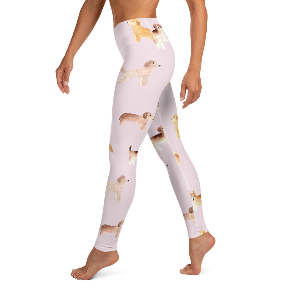 Corgi, Poodle, Bulldog, Golden Retriever Puppies Yoga Leggings | Dog & Shark | Funny Gift Ideas