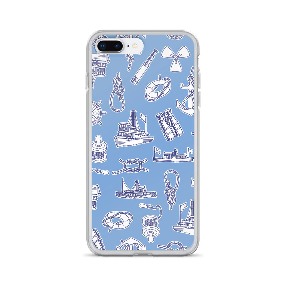 Yachts and Knots Nautical iPhone Case (Generations 6 - 11) | Dog & Shark | Funny Gift Ideas