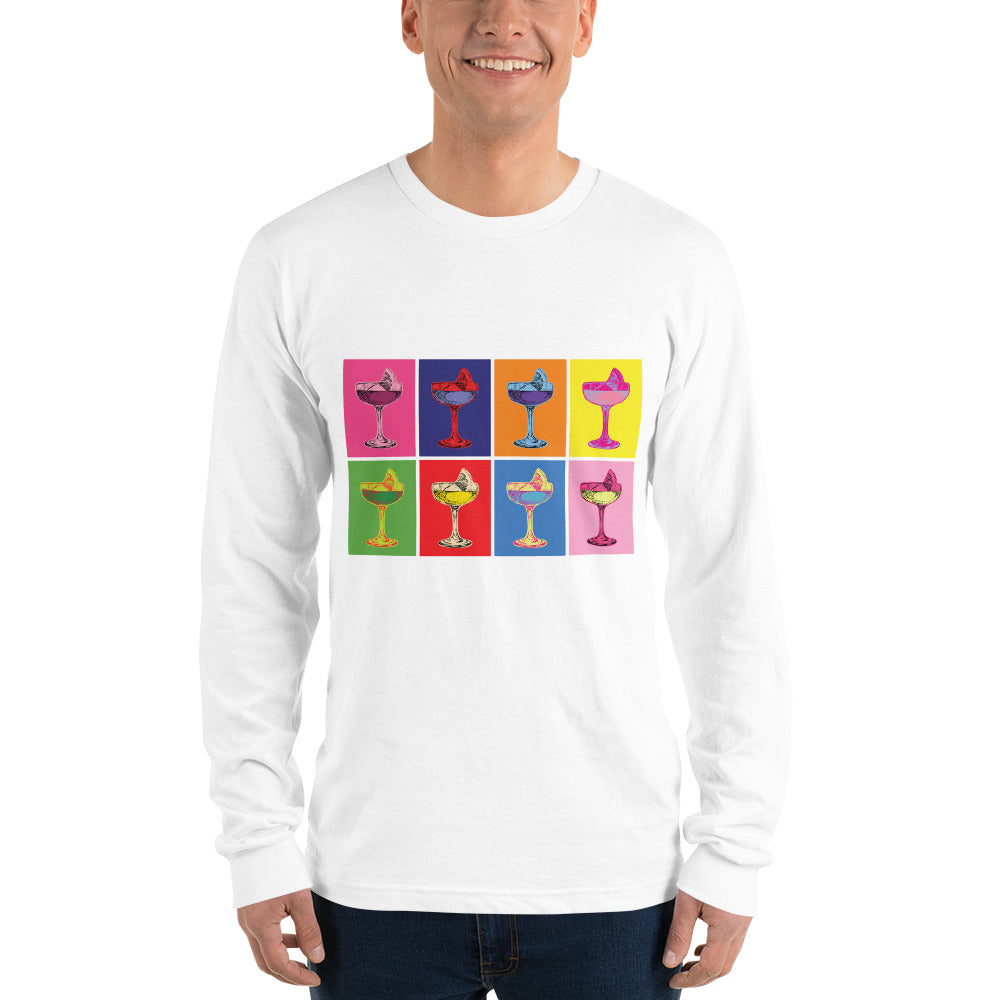 Andy Warhol Inspired Long Sleeve Shirt | Dog & Shark | Funny Gift Ideas