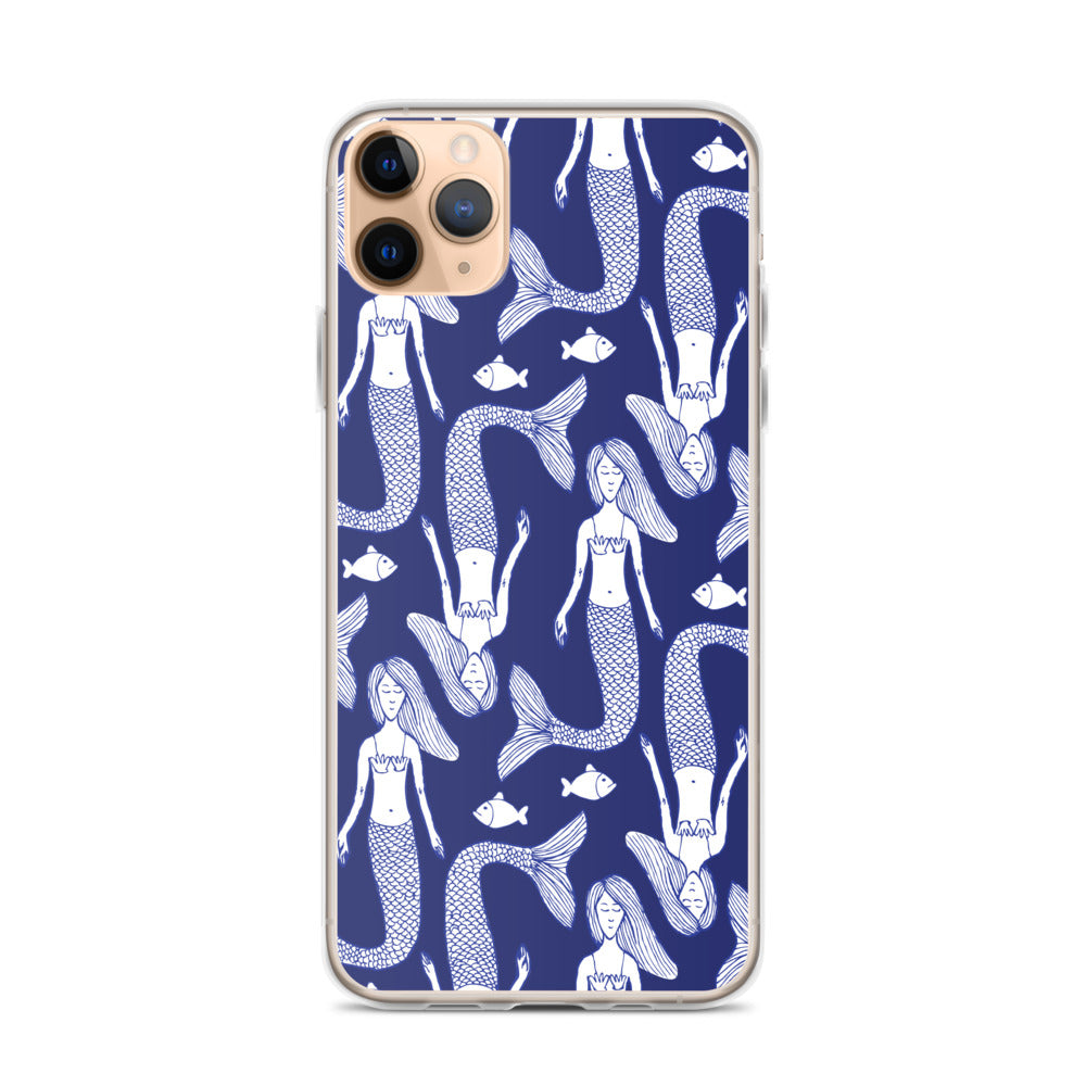 Mermaid Print iPhone Case (Generations 6 - 11) | Dog & Shark | Funny Gift Ideas