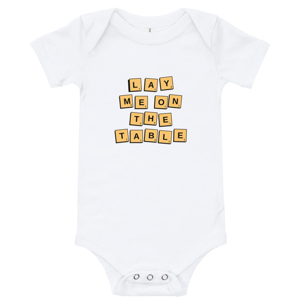 Scrabble Lovers' Baby Onesie | Dog & Shark | Funny Gift Ideas