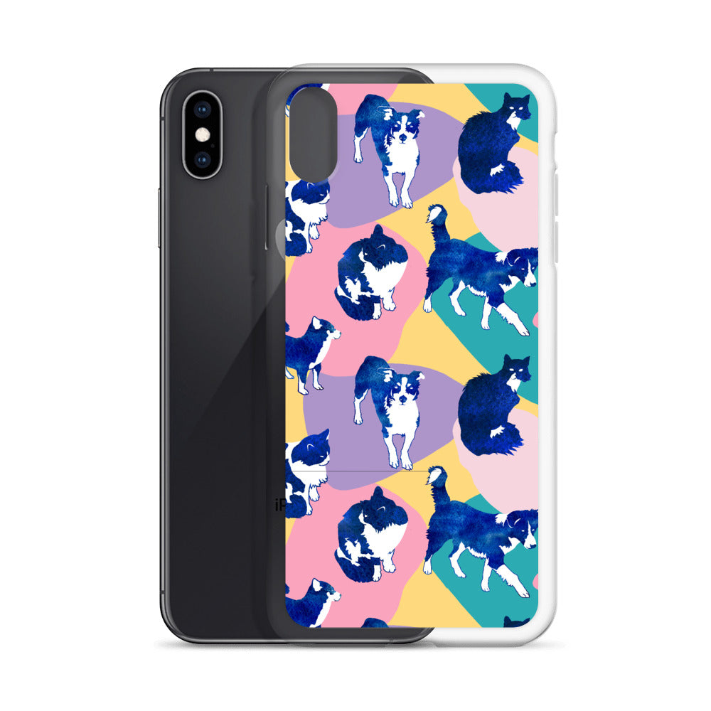 Australian Shepherd & Kitten iPhone Case (Generations 6-11) | Dog & Shark | Funny Gift Ideas