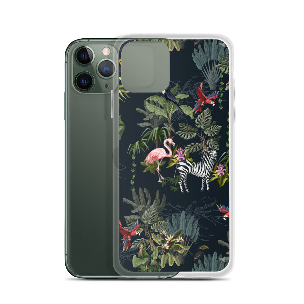Flamingo, Zebra, Cheetah Jungle iPhone Case (Generations 6 - 11) | Dog & Shark | Funny Gift Ideas