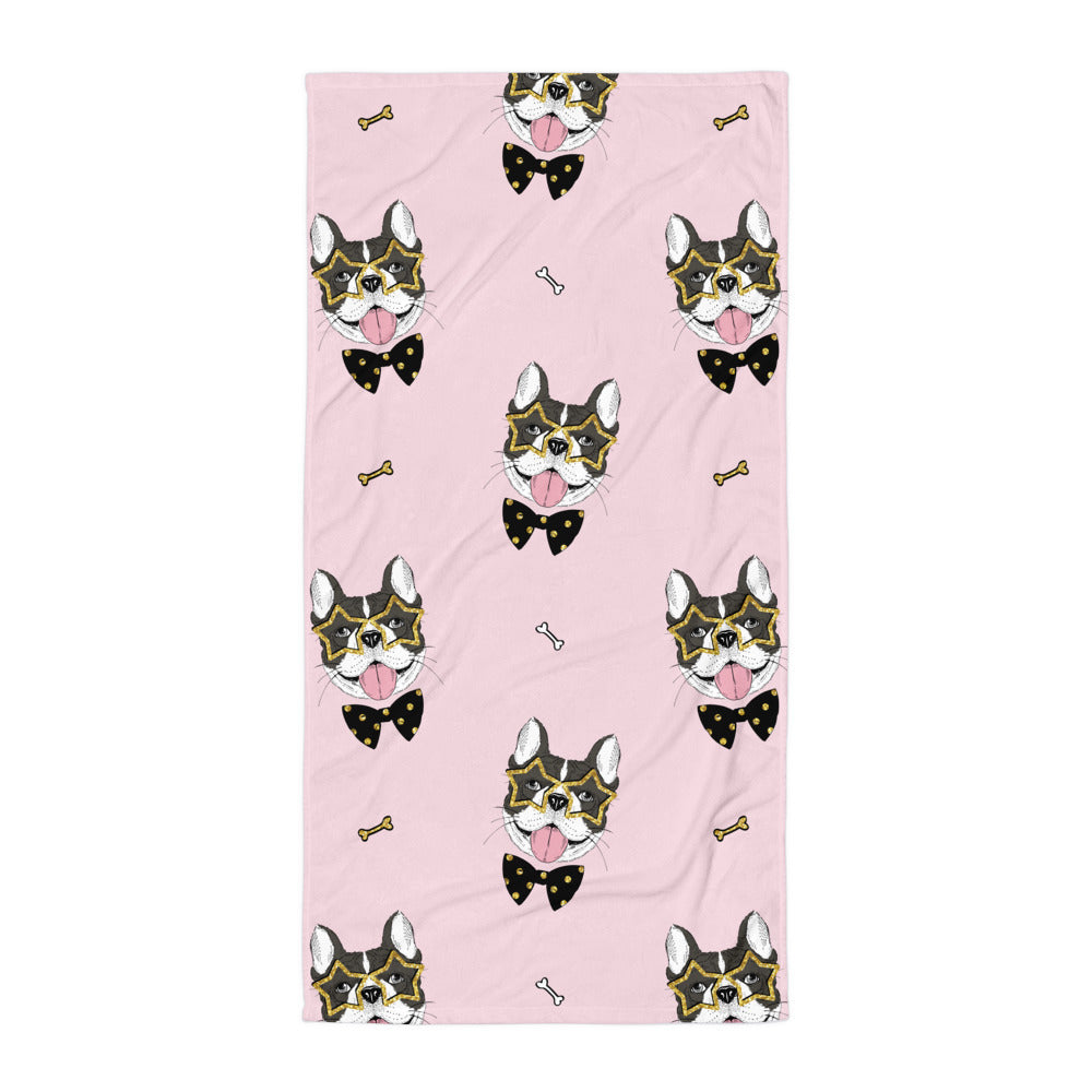 French Bulldog Beach Towel | Dog & Shark | Funny Gift Ideas