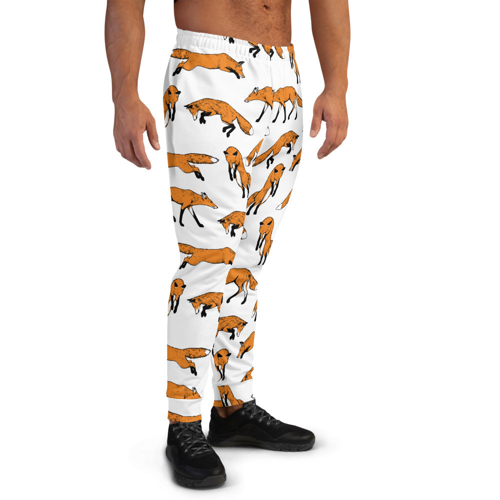 Fantastic Mr. Fox Print Men's Joggers | Dog & Shark | Funny Gift Ideas