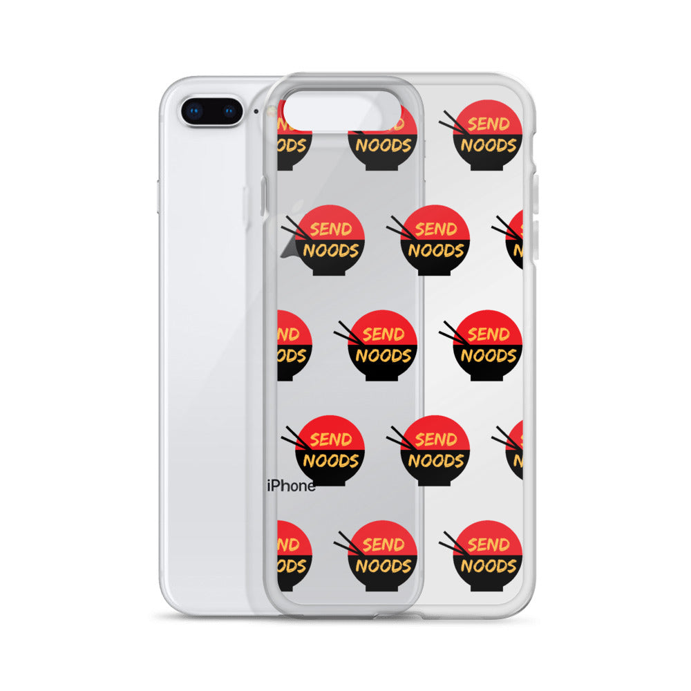 Send Noods iPhone Case (Generations 6 - 11) | Dog & Shark | Funny Gift Ideas