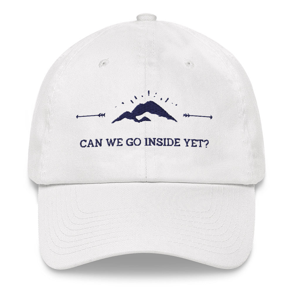 Can We Go Inside Yet Embroidered Hat | Dog & Shark | Funny Gift Ideas