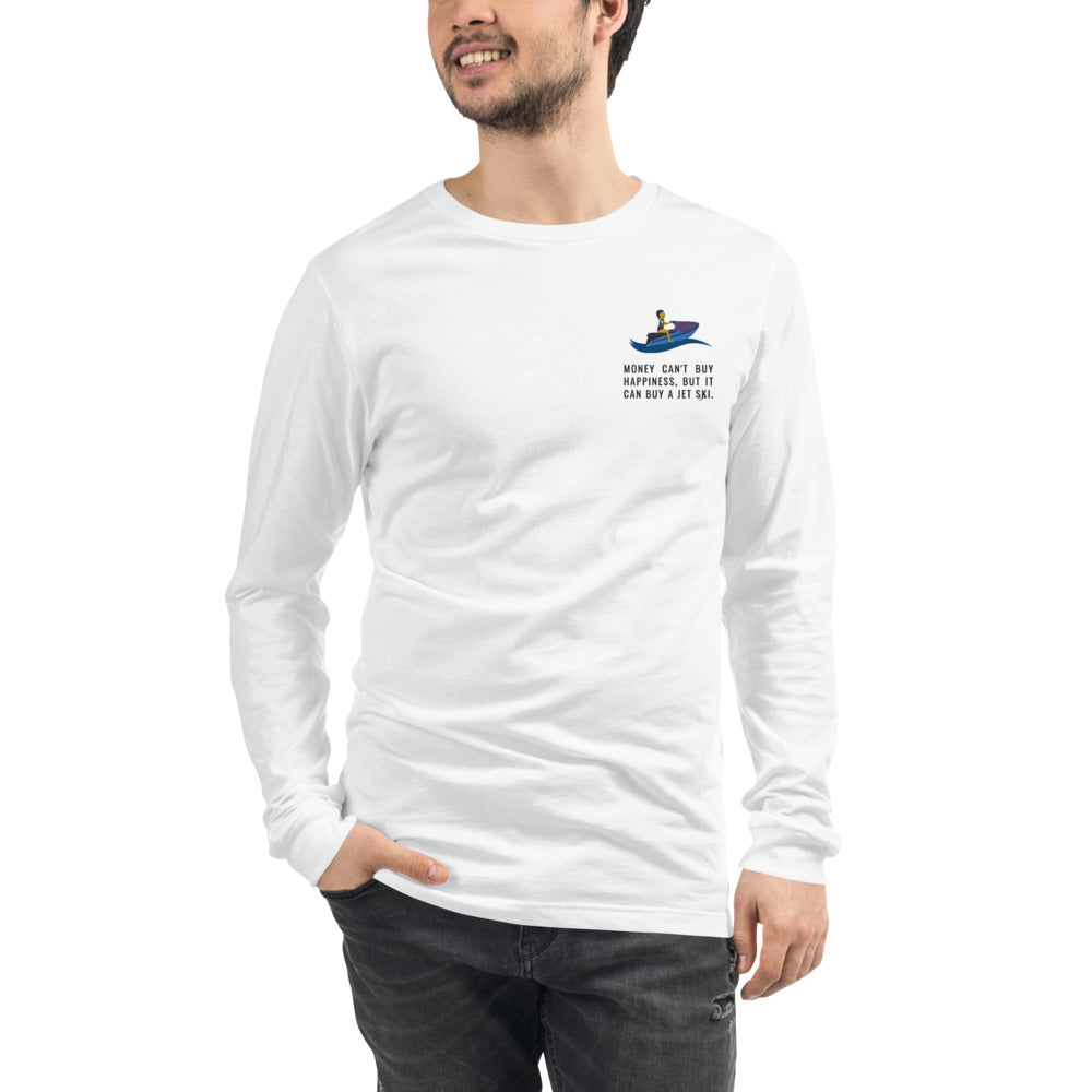 Happy Jet Skis Embroidered Shirt | Dog & Shark | Funny Gift Ideas