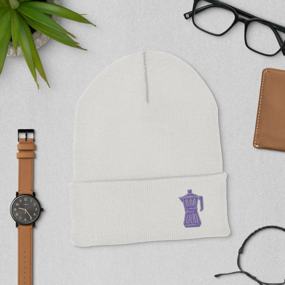Fluent in French Press Knit Beanie | Dog & Shark | Funny Gift Ideas