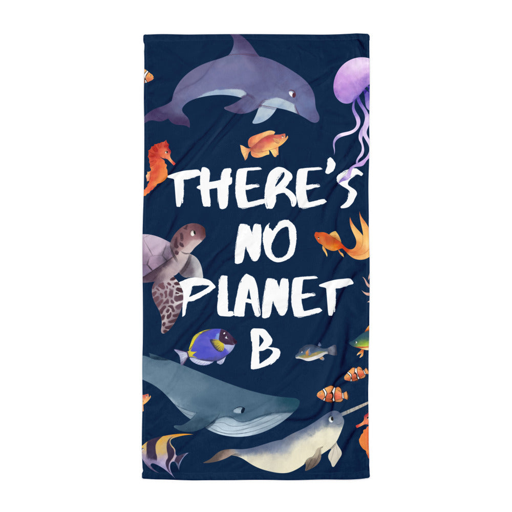 There's No Planet B Giant Beach Towel | Dog & Shark | Funny Gift Ideas