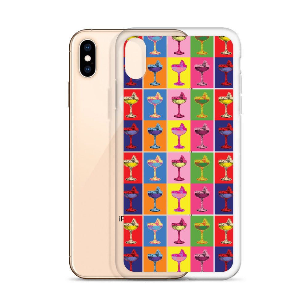 Cocktail Warhol Inspired iPhone Case (Generations 6 - 11) | Dog & Shark | Funny Gift Ideas