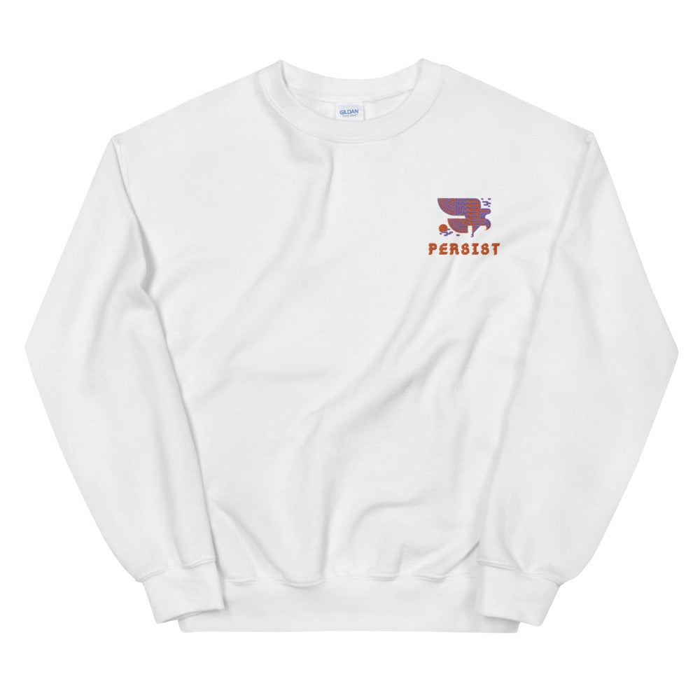 Persist Embroidered Sweatshirt | Dog & Shark | Funny Gift Ideas