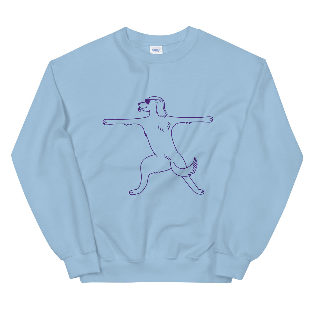 Furrier Pose Dog Sweatshirt | Dog & Shark | Funny Gift Ideas