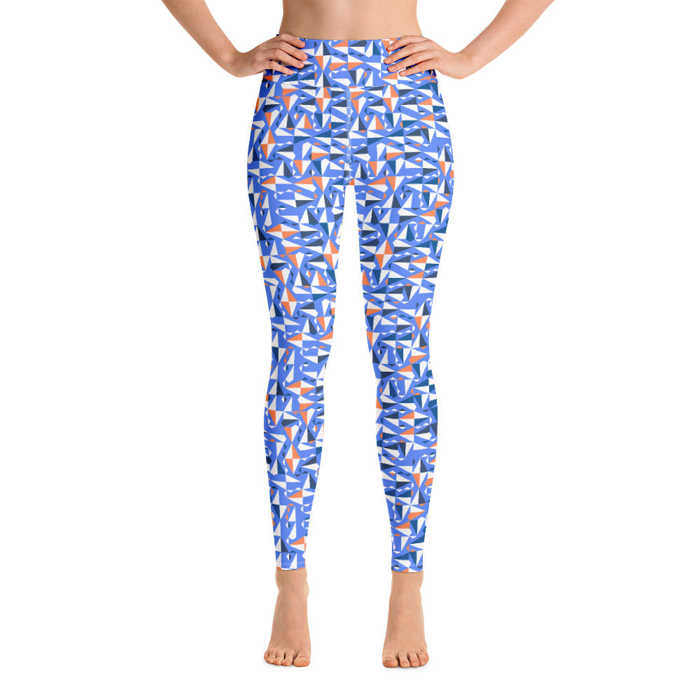 Nautical Flags High Waisted Yoga Leggings | Dog & Shark | Funny Gift Ideas