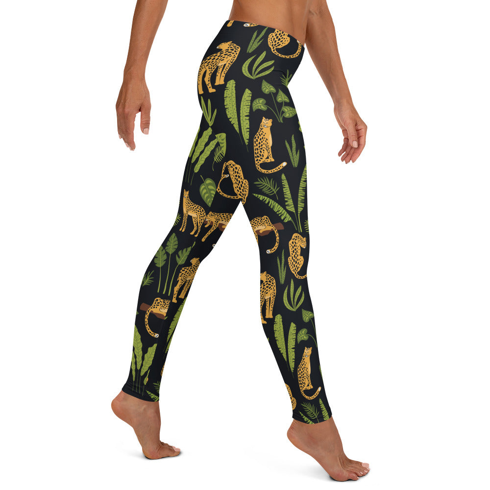Leopards and Tropical Print Leggings | Dog & Shark | Funny Gift Ideas