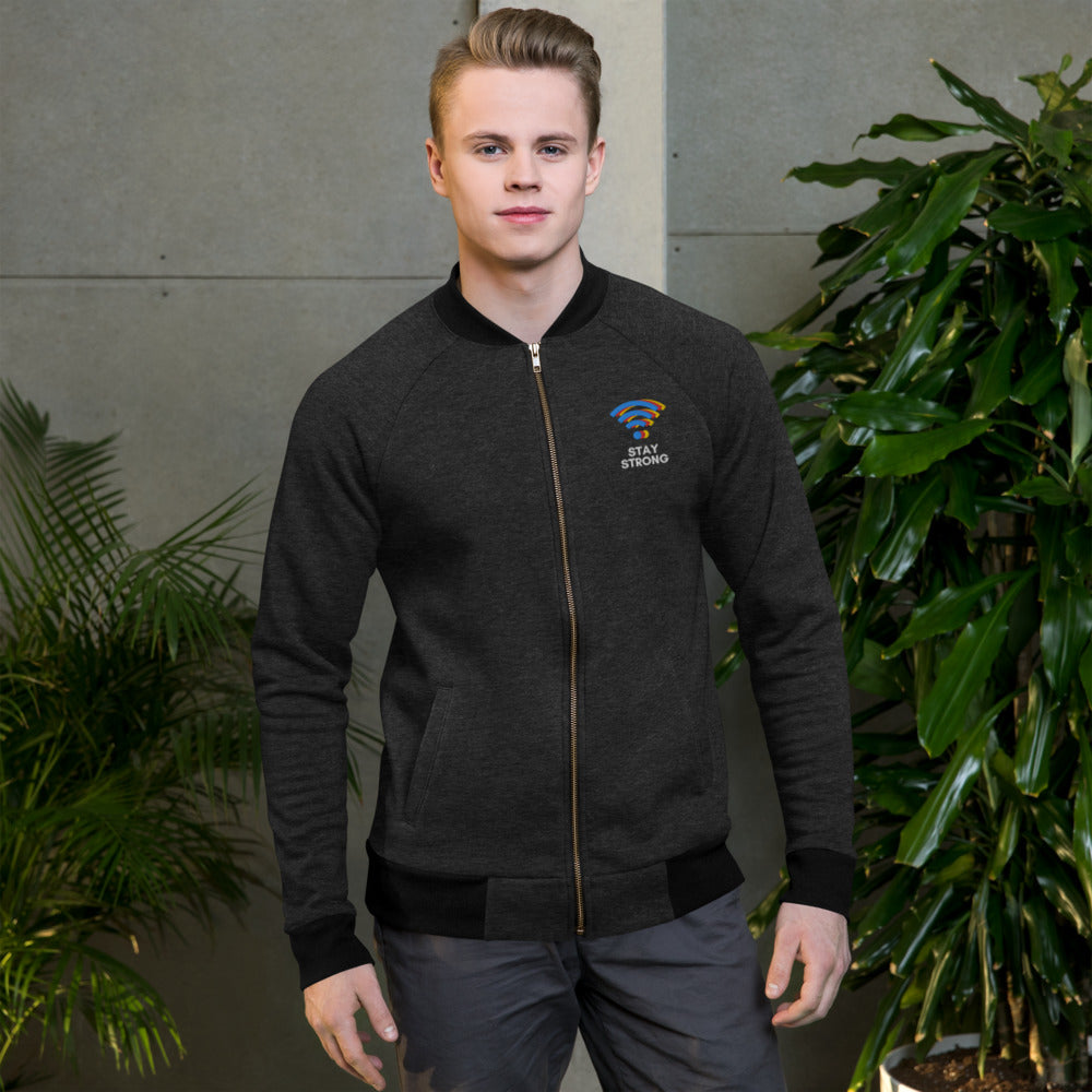 Strong WiFi Embroidered Jacket | Dog & Shark | Funny Gift Ideas
